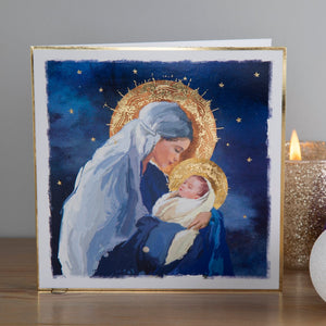 Madonna and Child Christmas cards, Pack of 10
