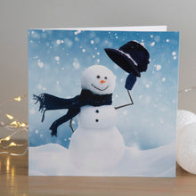 Load image into Gallery viewer, Happy Snowman Christmas cards, Pack of 10