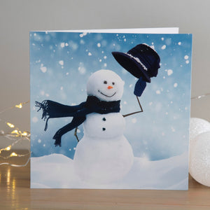 Happy Snowman Christmas cards, Pack of 10