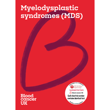 Load image into Gallery viewer, Myelodysplastic syndromes (MDS) booklet from Blood Cancer UK