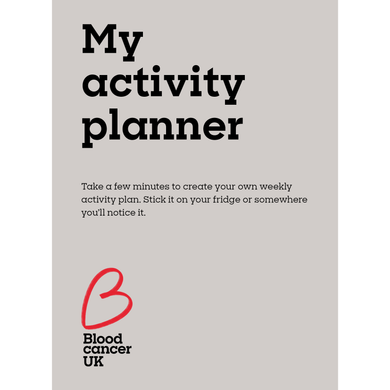 My activity planner from Blood Cancer UK