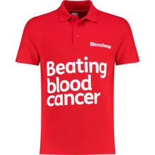 Load image into Gallery viewer, Polo tshirt Bloodwise red front