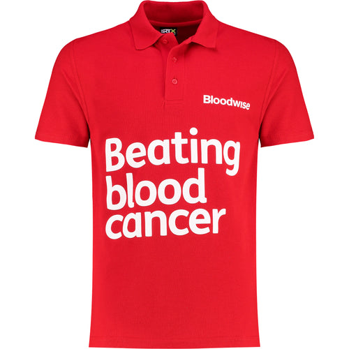 Polo tshirt Bloodwise red front