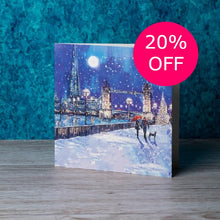 Load image into Gallery viewer, Tower Bridge in the snow Christmas cards, Pack of 10