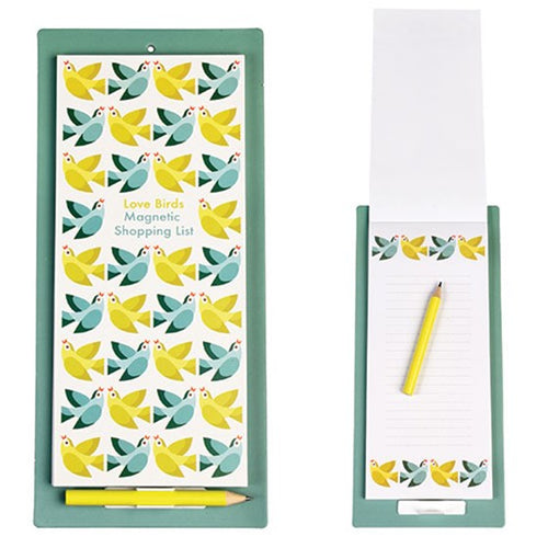 Love Birds Magnetic Shopping List