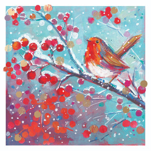 Christmas Robin Christmas cards, Pack of 10