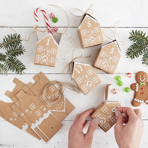 Gingerbread Advent Boxes