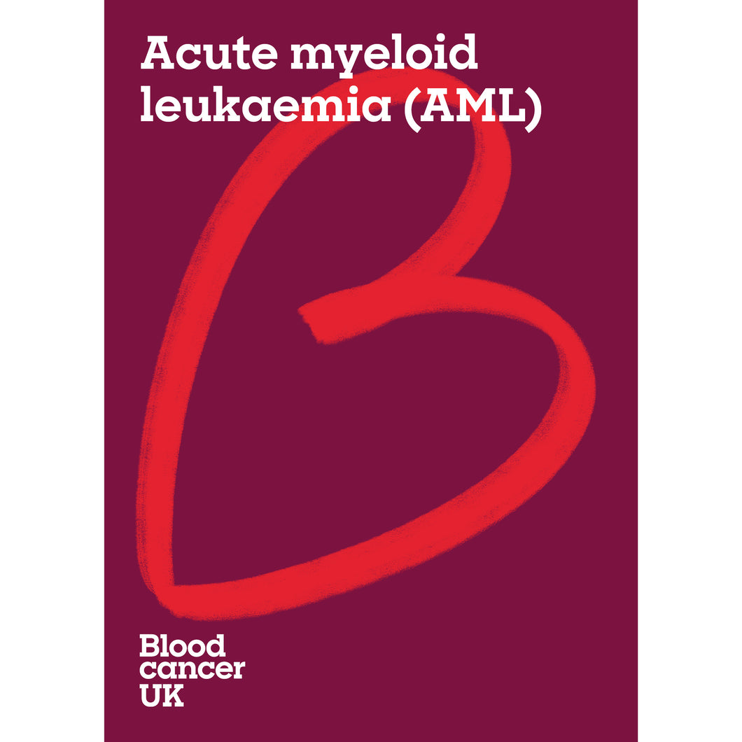 Acute myeloid leukaemia (AML) booklet from Blood Cancer UK