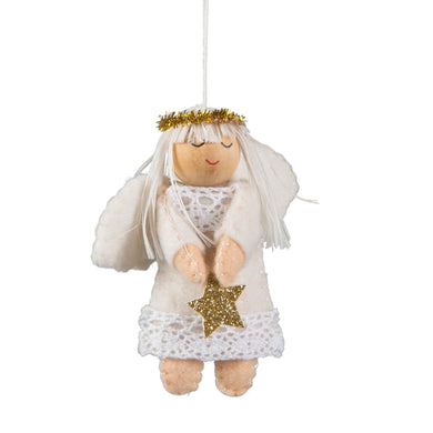 Angel and star Christmas decoration