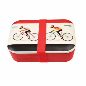 Bicycle bamboo lunch box