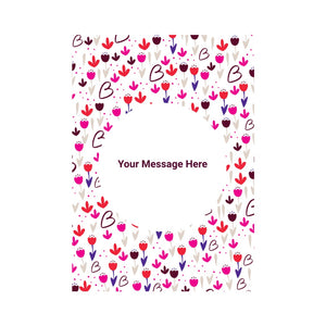 Personalised Floral Card
