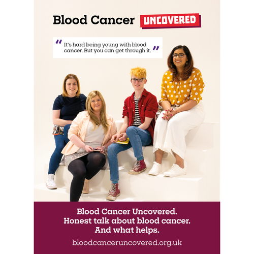 Blood cancer uncovered flyer for young people affected by blood cancer