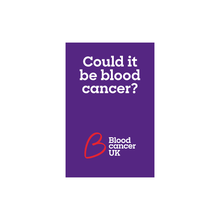 Load image into Gallery viewer, Blood cancer symptoms guide from Blood Cancer UK