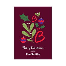 Load image into Gallery viewer, Personalised Merry Christmas card