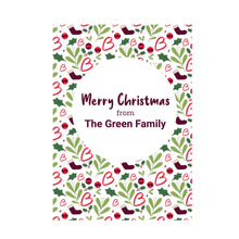 Load image into Gallery viewer, Merry Christmas personalised card