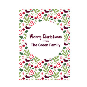 Merry Christmas personalised card