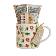 Load image into Gallery viewer, Gardeners Tea-Break Essentials with Hand Cream & Hand Wash, Nail Brush & Ceramic Mug