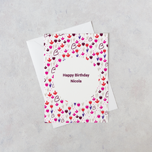 Load image into Gallery viewer, Personalised Floral Happy Birthday Card