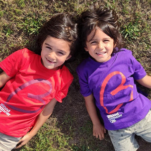 Kids cotton tshirts purple and red