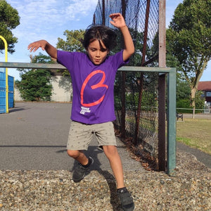 Kids cotton tshirt purple