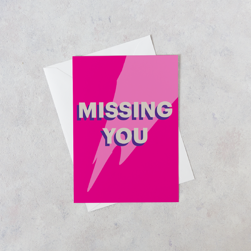 Personalised Missing You Card