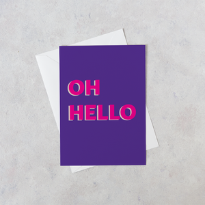 Personalised Oh Hello Card