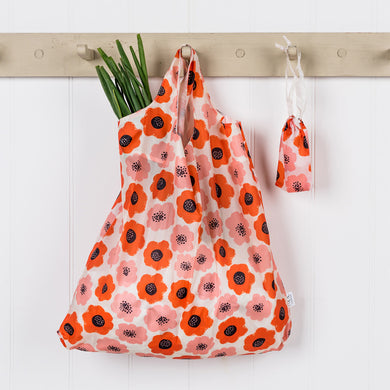 Poppy Folding Shopping Bag