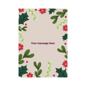 Personalised blank floral card