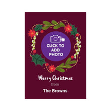 Load image into Gallery viewer, Photo upload personalised christmas card