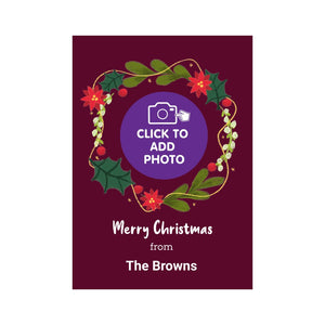 Photo upload personalised christmas card
