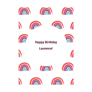 Personalised Rainbow Happy Birthday Card