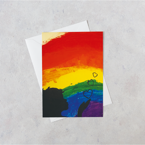 Rainbow Card by competition winner Amy-Lee, 13