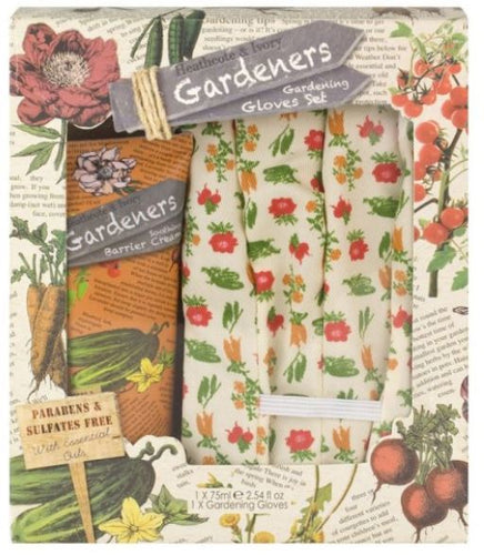 Gardeners Set with Barrier Cream 75ml & Cotton Gloves