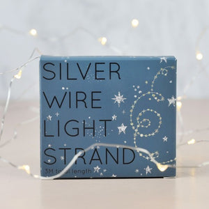 Silver wire string lights