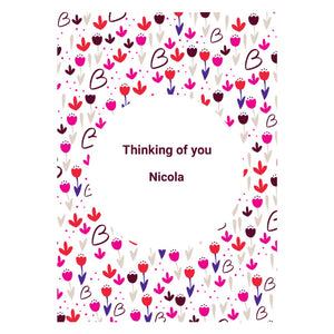 Personalised Floral Thinking of You Card