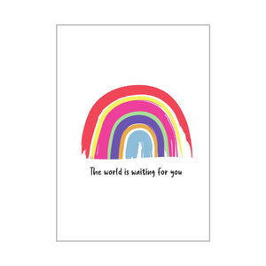 Personalised The world is waiting for you Card