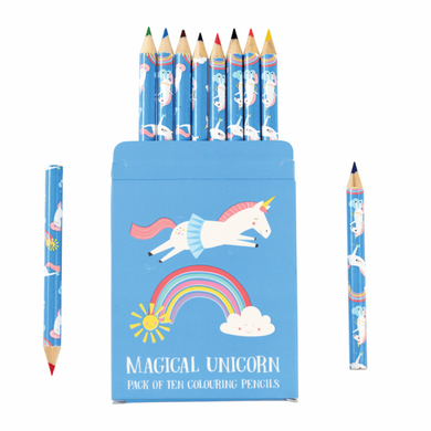Unicorn colouring pencils