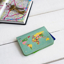 Load image into Gallery viewer, World map travel card holder