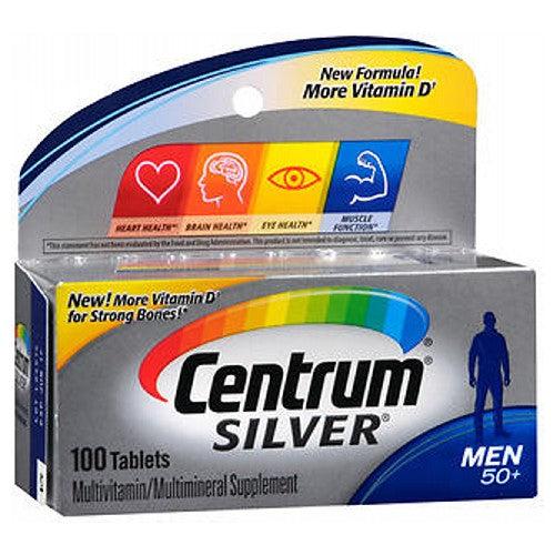 Centrum Silver Ultra Mens Multivitamin/Multimineral Supplement Tablets 100 tabs by Centrum Personalized for Men 50+ Multivitamin/Multimineral Supplement