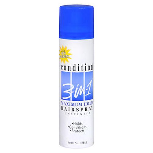 Condition 3-In-1 Hairspray Aerosol Maximum Hold Unscented - 7 oz
