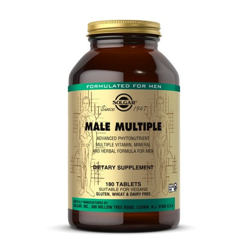 Male Multiple Tablets 180 Tabs by Solgar Since 1947 Dietary Supplement Sugar and Starch Free Suitable for Vegetarians