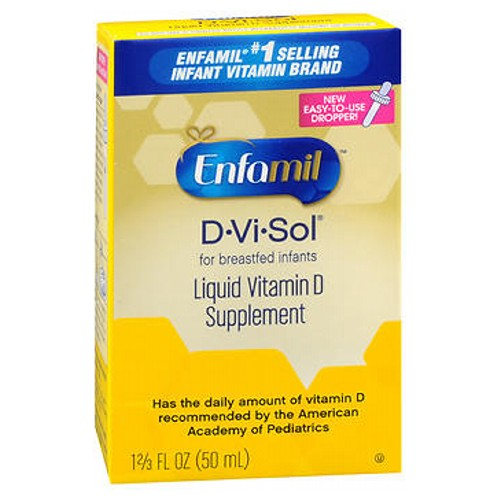 Enfamil D-Vi-Sol Vitamin D Supplement Drops 50 ml by Enfamil Essential for All Breastfed InfantsRecommended By Pediatrician