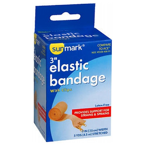 Sunmark Elastic Bandage With Clips 3'' 1 each by Sunmark