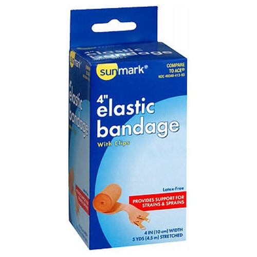 Sunmark Elastic Bandage With Clips 4'' 1 each