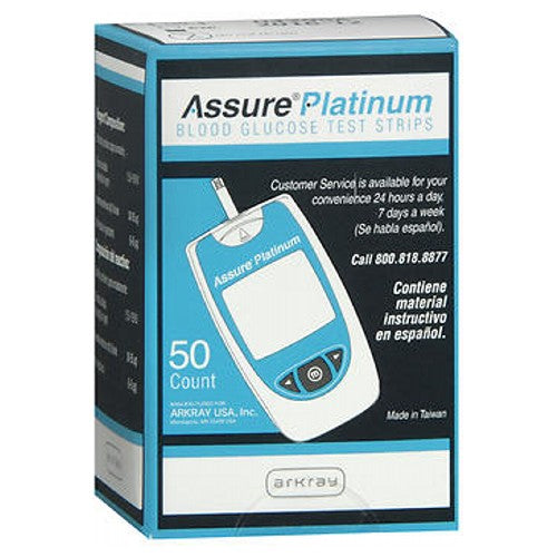 Assure Platinum Blood Glucose Test Strips - 50 each