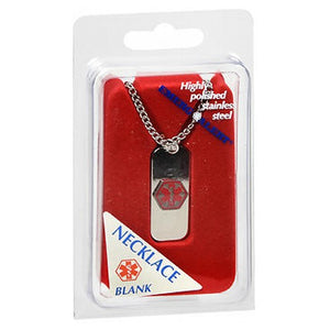 Medical Emergency Id Necklace Blank Hypo Allergenic 2 each