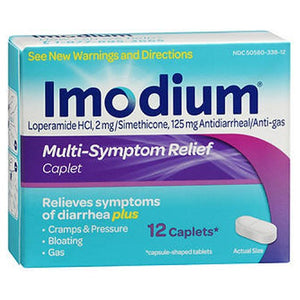 Imodium Multi-Symptom Relief Antidiarrheal/Anti-Gas 12 tabs by Johnson & Johnson