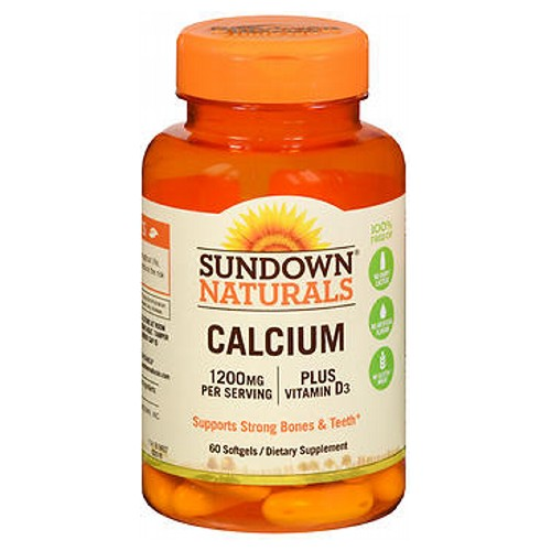 Sundown Naturals Calcium Plus Vitamin D3 60 caps by Sundown Naturals 1200 mg Per Serving Considered as Dietary SupplementGuaranteed Quality - Laboratory TestedMay Reduce the Risk of Osteoporosis** Plus Vitamin D3 1000 IUPromotes Bone Health