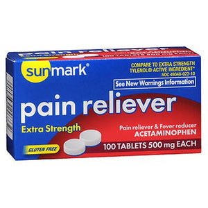 Sunmark Pain Reliever - 100 tabs