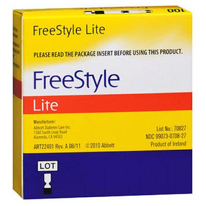 Freestyle Lite Blood Glucose Test Strips - 100 each